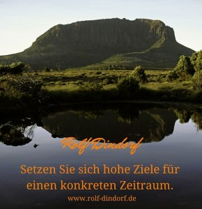 Ziele setzen Kommunalberater Rolf Dindorf