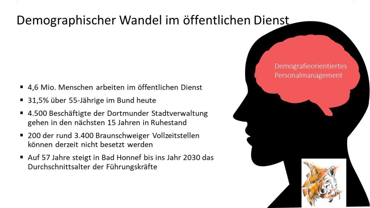 Daten demographischer Wandel öffentlicher Dienst Rolf Dindorf strategisches Personalmanagement